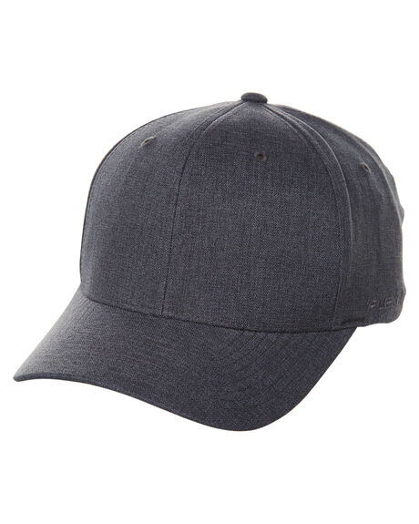 HEATHER CHARCOAL MENS ACCESSORIES FLEX FIT HEADWEAR - 161601HCHA