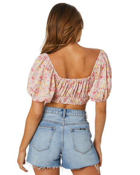 SUNSET FLORAL WOMENS CLOTHING SNDYS FASHION TOPS - SFT133SFLR