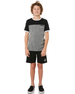 BLACK KIDS BOYS VOLCOM TEES - C0121830BLK