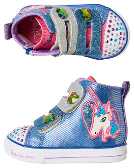 BLUE MULTI KIDS TODDLER GIRLS SKECHERS FOOTWEAR - 10995NBLMT