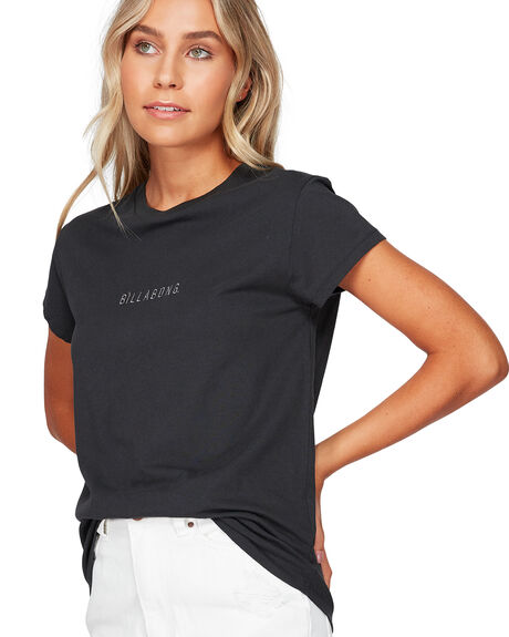 OFF BLACK WOMENS CLOTHING BILLABONG TEES - BB-6591132-OFB