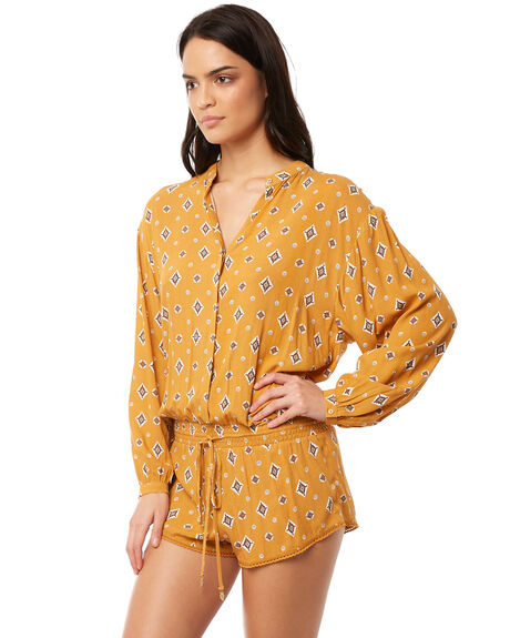 MUSTARD WOMENS CLOTHING TIGERLILY PLAYSUITS + OVERALLS - T381418MUS