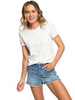 MARSHMALLOW WOMENS CLOTHING ROXY TEES - ERJZT04512-WBT0