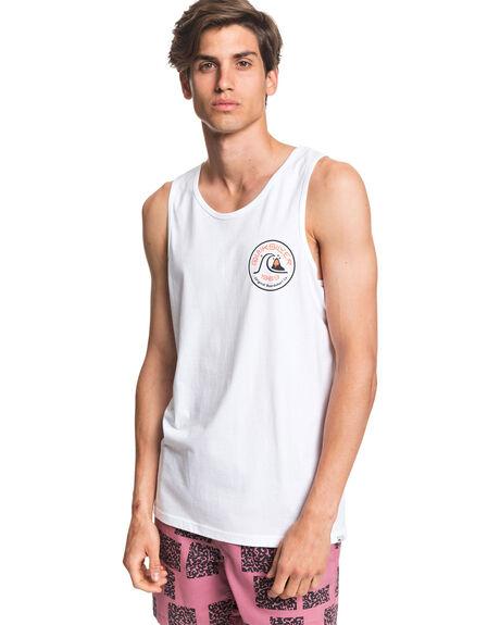 WHITE MENS CLOTHING QUIKSILVER SINGLETS - EQYZT05779-WBB0