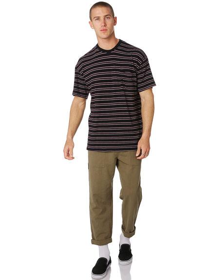 WASHED BLACK MENS CLOTHING MISFIT TEES - MT091101WBLK