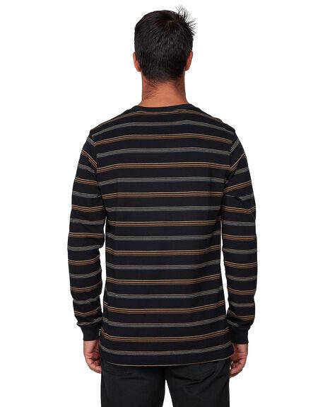 BLACK MENS CLOTHING RVCA TEES - RV-R107095-BLK