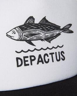 WHITE BLACK MENS ACCESSORIES DEPACTUS HEADWEAR - D5171161412WHTB