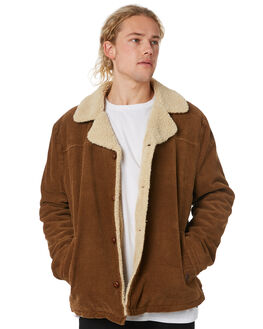 TAN CORD MENS CLOTHING WRANGLER JACKETS - 901562FY4