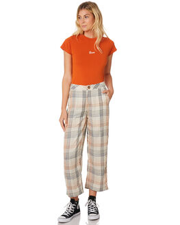 ORANGE RUST WOMENS CLOTHING RVCA TEES - R293694ORA