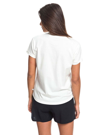 SNOW WHITE WOMENS CLOTHING ROXY TEES - ERJZT04808-WBK0