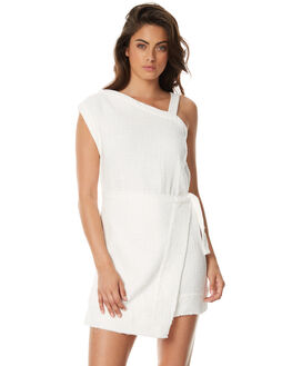 WHITE WOMENS CLOTHING ZULU AND ZEPHYR DRESSES - ZZ1572WHT
