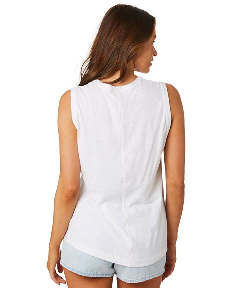 WHITE OUTLET WOMENS ZULU AND ZEPHYR SINGLETS - ZZ2464WHT