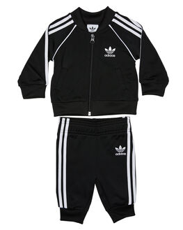 BLACK WHITE KIDS BABY ADIDAS CLOTHING - DV2816BLKWH