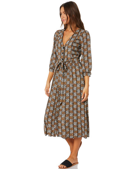TORTOISE SHELL WOMENS CLOTHING RUSTY DRESSES - DRL1034TOR