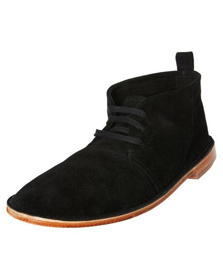 BLACK SUEDE OUTLET MENS URGE BOOTS - URG17237BSDE