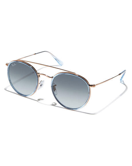 0acaaca04 Ray-Ban Round 51 Double Bridge Sunglasses - Blue Copper | SurfStitch