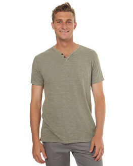SMOKEY GREEN MENS CLOTHING KATIN TEES - KNFOLS17SGRN