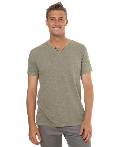 SMOKEY GREEN MENS CLOTHING KATIN TEES - KNFOLS17SGRN