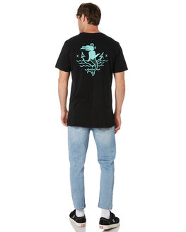 BLACK MENS CLOTHING SWELL TEES - S52011001BLACK