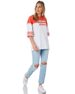 BOMBAY RED WOMENS CLOTHING A.BRAND TEES - 71835-5161