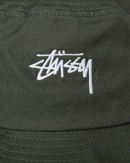 FLIGHT GREEN MENS ACCESSORIES STUSSY HEADWEAR - ST783025FGRN