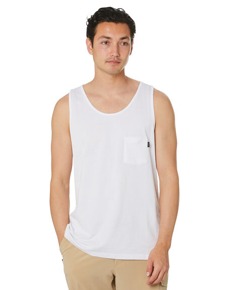 WHITE MENS CLOTHING RIP CURL SINGLETS - CTEMD91000