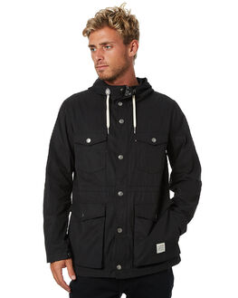 BLACK MENS CLOTHING ACADEMY BRAND JACKETS - 17W235BLK