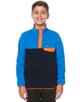 NAVY BLUE ANDES BLUE KIDS BOYS PATAGONIA JUMPERS - 65571NVAB