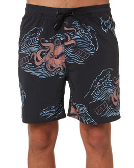 BLACK OCTOPUS MENS CLOTHING BRIXTON BOARDSHORTS - 04103BKOCT