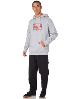 HEATHER GREY MENS CLOTHING PASS PORT JUMPERS - PPHOODHOURHTGRY