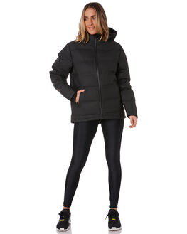 BLACK WOMENS CLOTHING HUFFER JACKETS - WDJA02S1301BLK