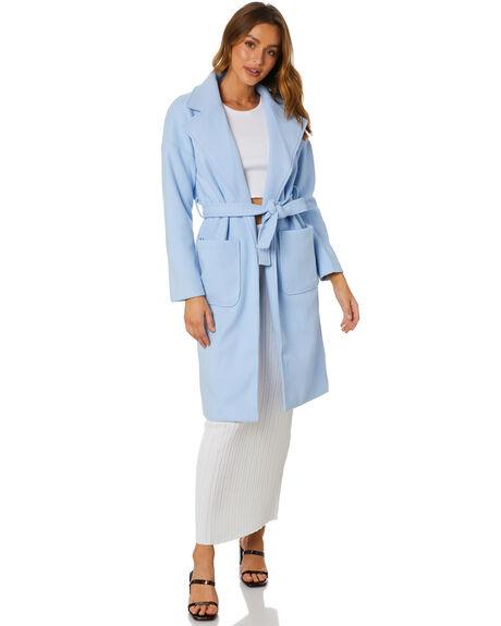 BLUE WOMENS CLOTHING SNDYS JACKETS - SFJ078BLU