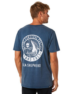 WASHED NAVY MENS CLOTHING SEA SHEPHERD TEES - SSA886NWSNVY