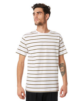 WHITE YELLOW MENS CLOTHING HUFFER TEES - MTE94S2402WHTYL