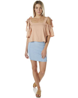 LIGHT BLUE WOMENS CLOTHING MINKPINK SKIRTS - MD1605930BLU