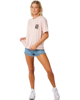 ASH ROSE WOMENS CLOTHING BILLABONG TEES - 6581006ASHR