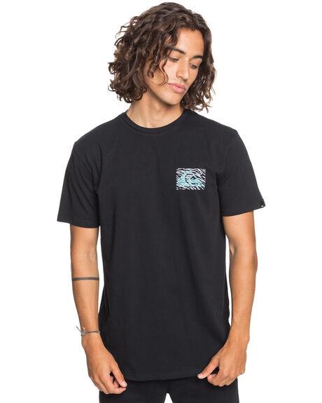 BLACK MENS CLOTHING QUIKSILVER TEES - EQYZT06045-KVJ0