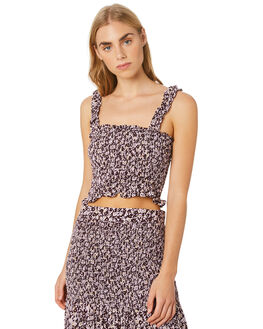 MUSSEE FLORAL ORCHID WOMENS CLOTHING RUE STIIC FASHION TOPS - SW-20-57-2-MFO-VRMFO