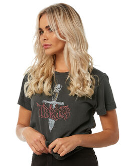 MERCH BLACK WOMENS CLOTHING THRILLS TEES - WTH8-130MBBLK
