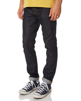 DRY PURE NAVY MENS CLOTHING NUDIE JEANS CO JEANS - 112444DPNVY