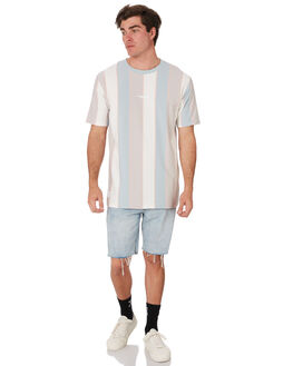 BLUE WHITE MENS CLOTHING RPM TEES - 9SMT07B1BLWHT