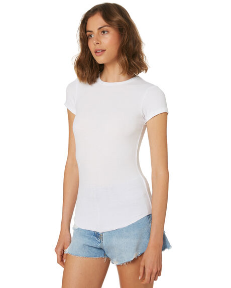 WHITE OUTLET WOMENS SWELL TEES - S8188001WHITE