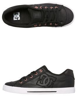 BLACK BLACK WHITE WOMENS FOOTWEAR DC SHOES SNEAKERS - ADJS300025BLW