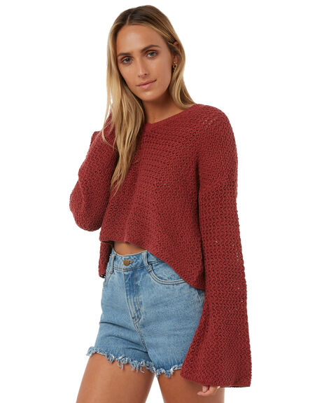RUST WOMENS CLOTHING THE HIDDEN WAY KNITS + CARDIGANS - H8182146RUST