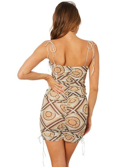 SCARF PRINT WOMENS CLOTHING JAGGER AND STONE DRESSES - JSJ009SPNT
