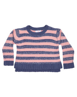 PINK GREY STRIPE KIDS TODDLER GIRLS EVES SISTER JUMPERS - 8090115PKGRY