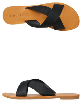 BLACK WOMENS FOOTWEAR RIP CURL SLIDES - TGTCY70090