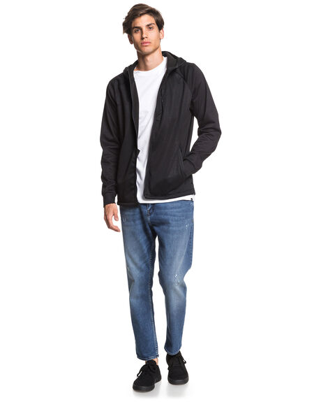 BLACK MENS CLOTHING QUIKSILVER JUMPERS - EQYFT04086-KVJ0