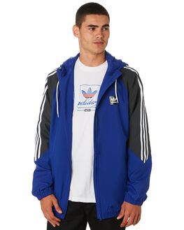 BLUE GREY WHITE MENS CLOTHING ADIDAS JACKETS - DU8336BGW