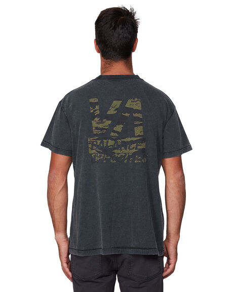 BLACK ACID MENS CLOTHING RVCA TEES - RV-R107050-252
